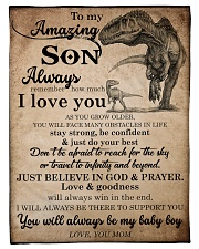 """Gift For Son - To My Son Dinosaur Small Fleece Blanket - 30"""" x 40"""" front"""