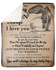 Gift For Son - To My Son Dinosaur Sherpa Fleece Blanket tile