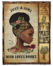 """Just A Girl Who Loves Books - Gift For Book Lovers Small Fleece Blanket - 30"""" x 40"""" front"""