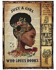 Just A Girl Who Loves Books - Gift For Book Lovers Fleece Blanket tile