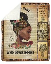Just A Girl Who Loves Books - Gift For Book Lovers Sherpa Fleece Blanket tile