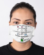 I Don't Care What Colour Your Skin Is Cloth Face Mask - 3 Pack aos-face-mask-lifestyle-01