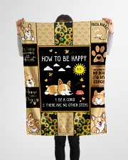 """Gift For Corgi Lovers - How To Be Happy Small Fleece Blanket - 30"""" x 40"""" aos-coral-fleece-blanket-30x40-lifestyle-front-14"""