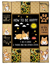 """Gift For Corgi Lovers - How To Be Happy Small Fleece Blanket - 30"""" x 40"""" front"""
