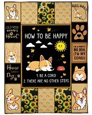 Gift For Corgi Lovers - How To Be Happy Fleece Blanket tile