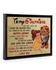 Gift For Girlfriend - To My Girlfriend  Floating Framed Canvas Prints Black tile