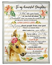 """Gift For Daughter - To My Daughter Horse Small Fleece Blanket - 30"""" x 40"""" front"""