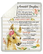 """Gift For Daughter - To My Daughter Horse Sherpa Fleece Blanket - 50"""" x 60"""" thumbnail"""