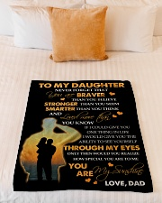 "To My Daughter - Gift For Daughter From Dad Small Fleece Blanket - 30"" x 40"" aos-coral-fleece-blanket-30x40-lifestyle-front-04"