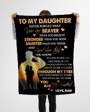 "To My Daughter - Gift For Daughter From Dad Small Fleece Blanket - 30"" x 40"" aos-coral-fleece-blanket-30x40-lifestyle-front-14"