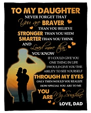 """To My Daughter - Gift For Daughter From Dad Small Fleece Blanket - 30"""" x 40"""" front"""