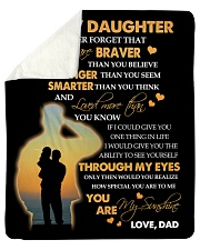 "To My Daughter - Gift For Daughter From Dad Sherpa Fleece Blanket - 50"" x 60"" thumbnail"
