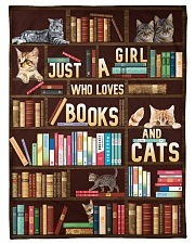 """Just A Girl Who Loves Books And Cats Small Fleece Blanket - 30"""" x 40"""" front"""