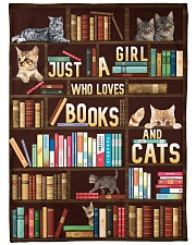 Just A Girl Who Loves Books And Cats Fleece Blanket tile