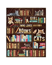 """Just A Girl Who Loves Books And Cats Quilt 40""""x50"""" - Baby thumbnail"""