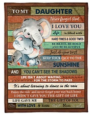 """Gift For Daughter - To My Daughter Elephant Small Fleece Blanket - 30"""" x 40"""" front"""