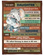 Gift For Daughter - To My Daughter Elephant Fleece Blanket tile