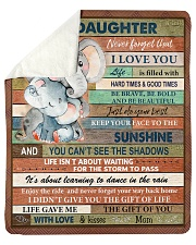 Gift For Daughter - To My Daughter Elephant Sherpa Fleece Blanket tile