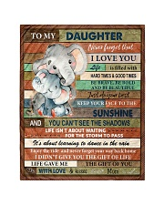 """Gift For Daughter - To My Daughter Elephant Quilt 40""""x50"""" - Baby thumbnail"""