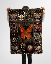"Gift For Butterfly Lovers Small Fleece Blanket - 30"" x 40"" aos-coral-fleece-blanket-30x40-lifestyle-front-14"