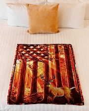 "Gift For Hunter - Deer Gift Small Fleece Blanket - 30"" x 40"" aos-coral-fleece-blanket-30x40-lifestyle-front-04"