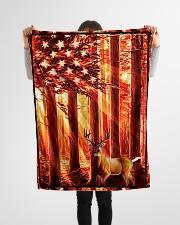 "Gift For Hunter - Deer Gift Small Fleece Blanket - 30"" x 40"" aos-coral-fleece-blanket-30x40-lifestyle-front-14"
