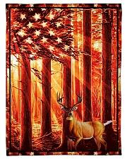 """Gift For Hunter - Deer Gift Small Fleece Blanket - 30"""" x 40"""" front"""