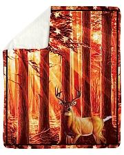"""Gift For Hunter - Deer Gift Sherpa Fleece Blanket - 50"""" x 60"""" thumbnail"""
