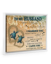 Gift For Husband - To My Husband Turtle 14x11 White Floating Framed Canvas Prints thumbnail