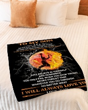 """Gift For Son - To My Son Basketball Small Fleece Blanket - 30"""" x 40"""" aos-coral-fleece-blanket-30x40-lifestyle-front-01"""