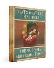 That's What I Do I Read Books - I Drink Coffee And Gallery Wrapped Canvas Prints tile