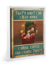 That's What I Do I Read Books - I Drink Coffee And Floating Framed Canvas Prints White tile