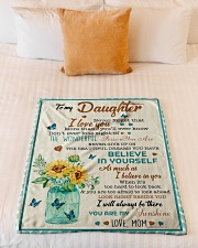 """Gift For Daughter - To My Daughter Unicorn Small Fleece Blanket - 30"""" x 40"""" aos-coral-fleece-blanket-30x40-lifestyle-front-04"""