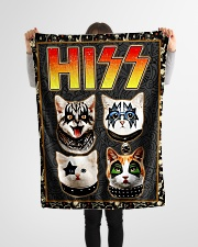 """Hizz Kiss Cat - Perfect Gift For Fans Small Fleece Blanket - 30"""" x 40"""" aos-coral-fleece-blanket-30x40-lifestyle-front-14"""