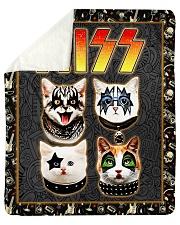 "Hizz Kiss Cat - Perfect Gift For Fans Sherpa Fleece Blanket - 50"" x 60"" thumbnail"