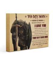 Gift For Son - To My Son Knight 14x11 Gallery Wrapped Canvas Prints front