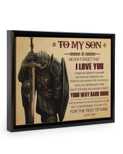 Gift For Son - To My Son Knight Floating Framed Canvas Prints Black tile