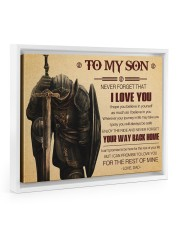 Gift For Son - To My Son Knight Floating Framed Canvas Prints White tile