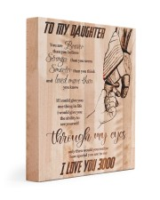 Gift For Daughter - To My Daughter I Love 3000 11x14 Gallery Wrapped Canvas Prints front