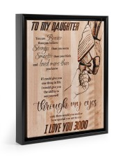 Gift For Daughter - To My Daughter I Love 3000 11x14 Black Floating Framed Canvas Prints thumbnail