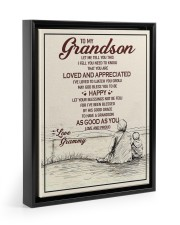 Gift For Grandson - To My Grandson Let Me You This Floating Framed Canvas Prints Black tile