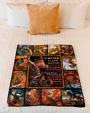 """Gift For Son - To My Son Dragon Small Fleece Blanket - 30"""" x 40"""" aos-coral-fleece-blanket-30x40-lifestyle-front-04"""