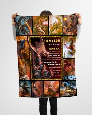 """Gift For Son - To My Son Dragon Small Fleece Blanket - 30"""" x 40"""" aos-coral-fleece-blanket-30x40-lifestyle-front-14"""
