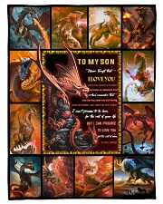 """Gift For Son - To My Son Dragon Small Fleece Blanket - 30"""" x 40"""" front"""