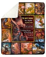 Gift For Son - To My Son Dragon Sherpa Fleece Blanket tile