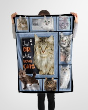 """Just A Girl Who Loves Cats - Gift For Cat Lovers Small Fleece Blanket - 30"""" x 40"""" aos-coral-fleece-blanket-30x40-lifestyle-front-14"""