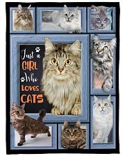 Just A Girl Who Loves Cats - Gift For Cat Lovers Fleece Blanket tile