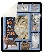 Just A Girl Who Loves Cats - Gift For Cat Lovers Sherpa Fleece Blanket tile