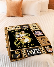 "My Patronus Is A Corgi - Gift For Corgi Lovers Small Fleece Blanket - 30"" x 40"" aos-coral-fleece-blanket-30x40-lifestyle-front-01"