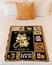 "My Patronus Is A Corgi - Gift For Corgi Lovers Small Fleece Blanket - 30"" x 40"" aos-coral-fleece-blanket-30x40-lifestyle-front-04"